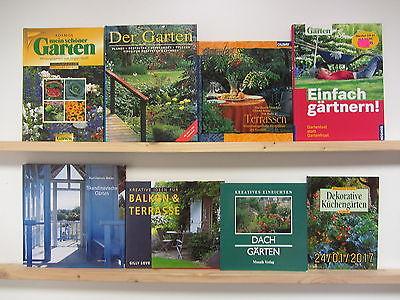 38 Bücher Garten gärtnern Gartenpflege Gartengestaltung Gärten Gartenkunst