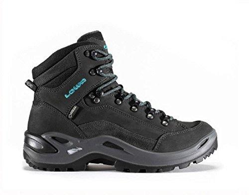 LOWA Renegade GTX Mid Women Outdoor Schuhe anthrazit-türkis - 41