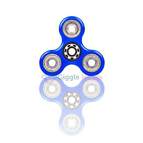 Giggle Hands Fidget Spinner Unruhe Kreisel Spielzeug Stressreduzierer - Perfekt für ADS, ADHS, Angstzustände und Autismus Erwachsene Kinder (Blau)