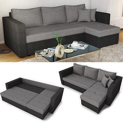 Ecksofa mit Schlaffunktion Sofa Couch Schlafsofa Polsterecke Bettfunktion