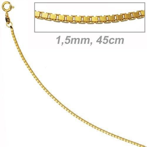 JOBO Venezianerkette 585 Gelbgold 1,5 mm 45 cm Gold-Halskette