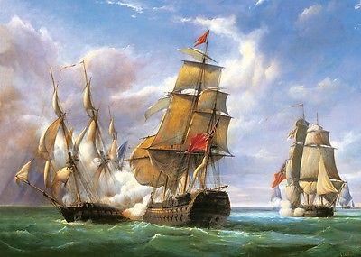 Puzzle Puzzel Combat Frigate Seeschlacht Schiff Schiffe Segelschiff Meer  3000