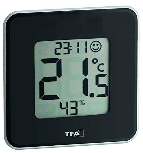 TFA Dostmann digitales Thermo-Hygrometer Style 30.5021.01, schwarz
