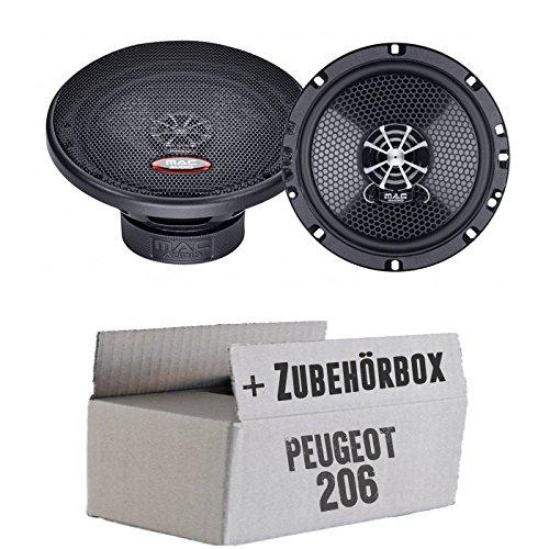 Peugeot 206 - Mac Audio PerformanceX 16.2 - 16cm Koaxe Lautsprecher Boxen - Einbauset
