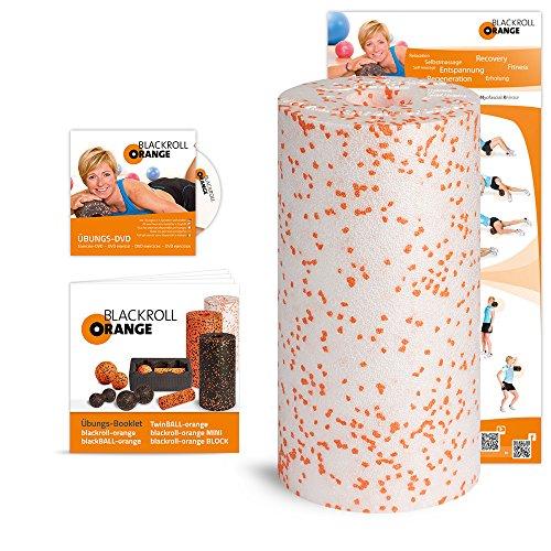 Blackroll Orange MED (Das Original) - 20% weichere Faszienrolle inkl. Übungs-DVD, Übungsposter & Booklet. Die Massagerolle für Faszien, auch Foam Roller oder Fitnessrolle genannt, zur softeren Selbstmassage des Bindegewebes. Qualität Made in Germany