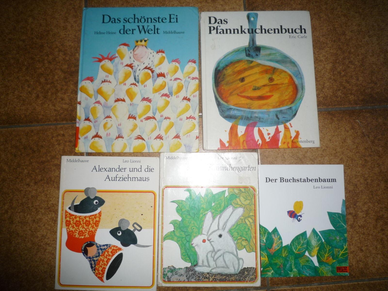Bilderbücher Leo Lionni & Eric Carle & Helme Heine Kinderbücher Sammlung 5 St.