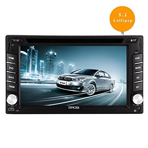 EinCar 6.2 '' Android 5.1 Lollipop-Doppelt-L?rm-Auto-DVD-Player mit Quad-Core-In Dash Navigation GPS-Einheit-Radio Audio Receiver Bluetooth-Stereo-Multimedia-System-Unterst¨¹tzung WiFi / Mirrorlink / 1080P