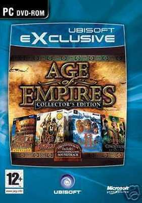 AGE OF EMPIRES 1 & 2 COLLECTORS EDITION - PC DVD