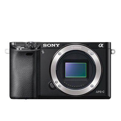 Sony Alpha ILCE-6000 Digitalkamera Schwarz (Nur Gehäuse)