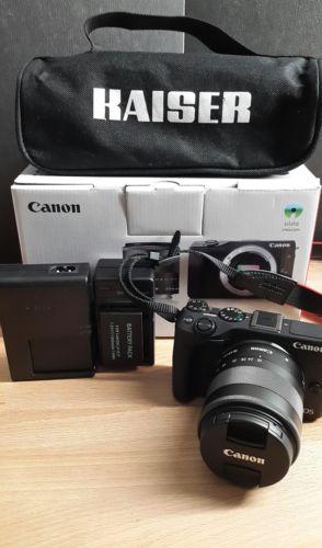 Canon EOS M3 24.2MP Digitalkamera - Schwarz (Kit m/ EF-M 18-55mm f/3.5-5.6 IS S.