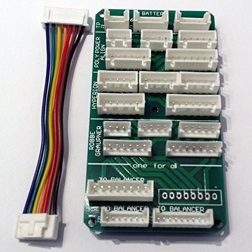 Balancer Multi Adapter Board 2S-6S XH XHP EH EHR TP HP PQ mit Anschlußkabel