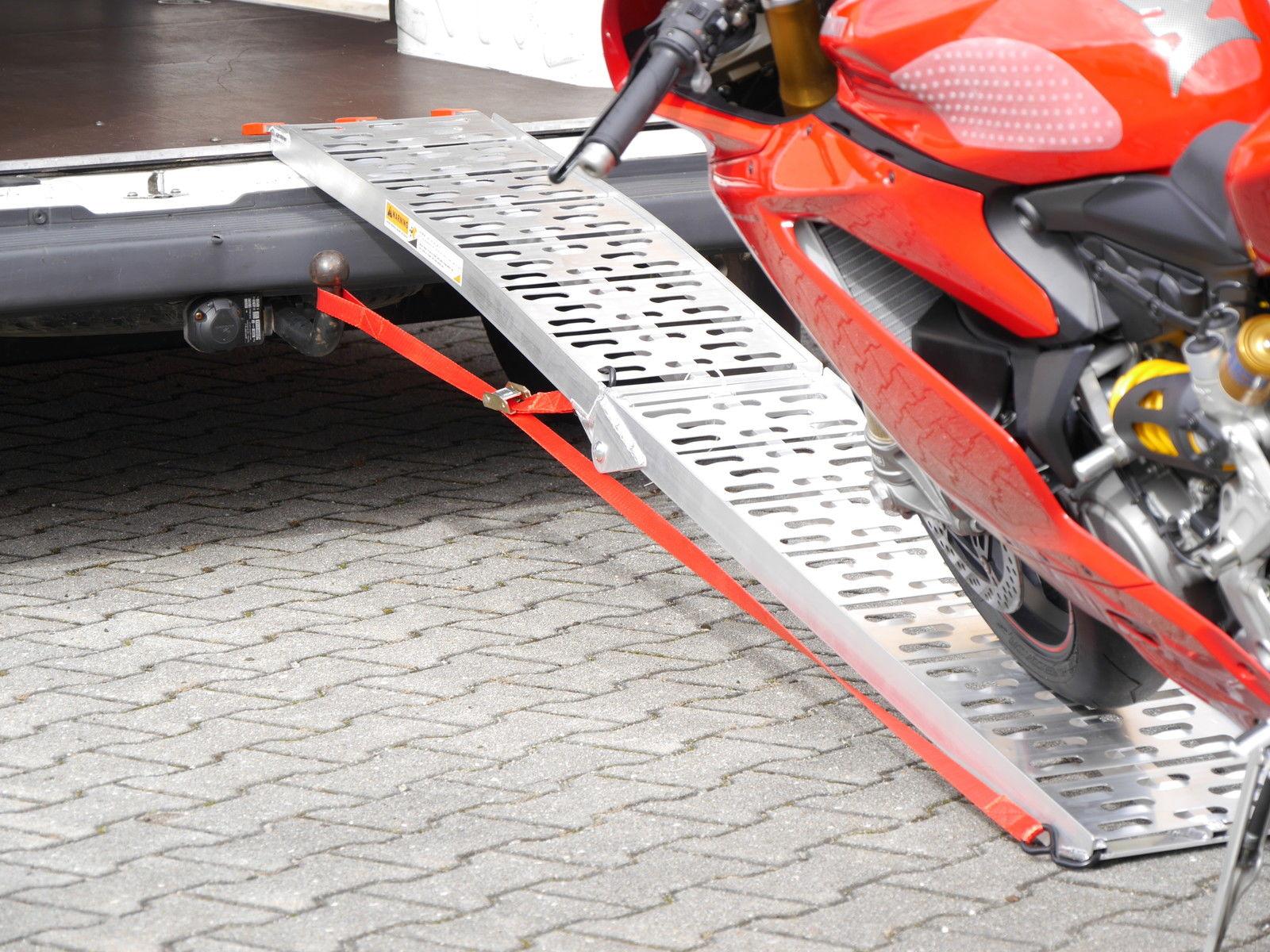 Alu Auffahrrampe Rampe 340 kg klappbar Motorradrampe Quad ATV Roller