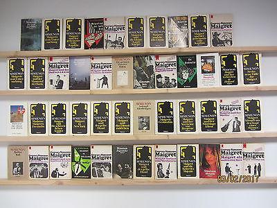 Georges Simenon 46 Bücher Romane Kommissar Maigret Krimi Kriminalromane