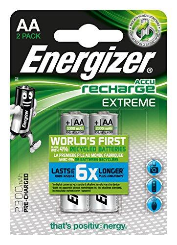 Energizer E300624500 - NiMH Akkumulator Extreme, AA / Mignon / 2300 mAh, vorgeladen 2er Pack