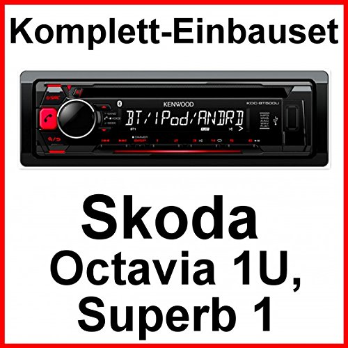 Komplett-Set Skoda Octavia 1U Superb 1 Kenwood KDC-BT500U Autoradio Bluetooth CD