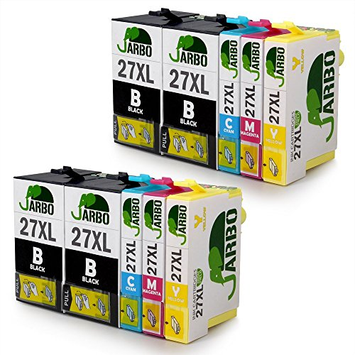 JARBO Kompatibel Epson 27XL Tintenpatronen (4 Schwarz,2 Cyan,2 Magenta,2 Gelb) Hohe Kapazität kompatibel zu Epson Workforce WF WF 3640 7610 3620 7620 7110 Drucker