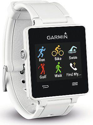 Garmin Vivoactive Weiss GPS Sport Watch Smartwatch Cycling Fitness Running