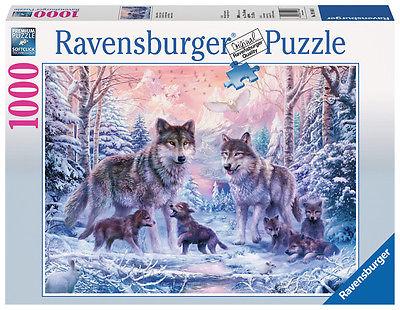 1000 Teile Ravensburger Puzzle Arktische Wölfe 19146