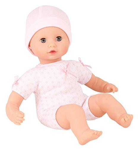 Götz 1320590 Muffin to dress Mädchen - 33 cm große Weichkörperpuppe mit blauen Schlafaugen, ohne Haare und Mütze - geeignet für Kinder ab 18 Monaten