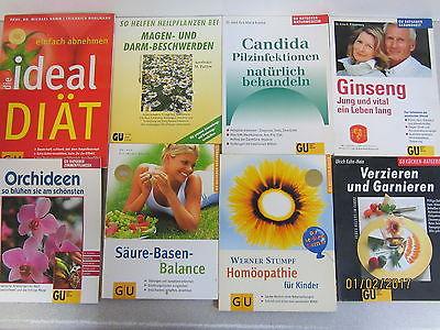 89 Bücher GU Ratgeber Verlag Gräfe und Unzer verschiedene Themen