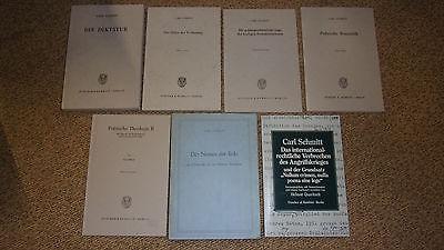 7x alte Bücher Carl Schmitt Sammlung Auflösung 3428013336 3428013301 3428021568