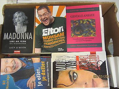75 Bücher Softcover Romane Sachbücher u.a.