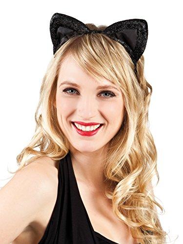 Boland 52336 - Haarreif Katze, aus Samt, Einheitsgröߟe, mehrfarbig