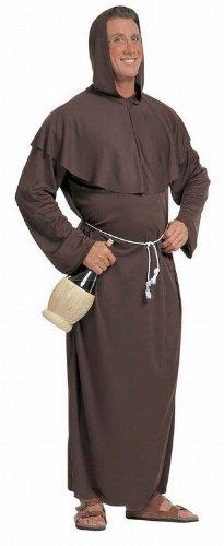 Widmann 39023 - Kostüm Mönch, Gewand mit Kapuze und Gürtel, Größe L