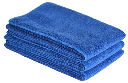 Sinland Microfasertuch Auto Reinigen Waschen Trocknen Reinigungstuch 3 Stück 40cmx60cm dunkel blau