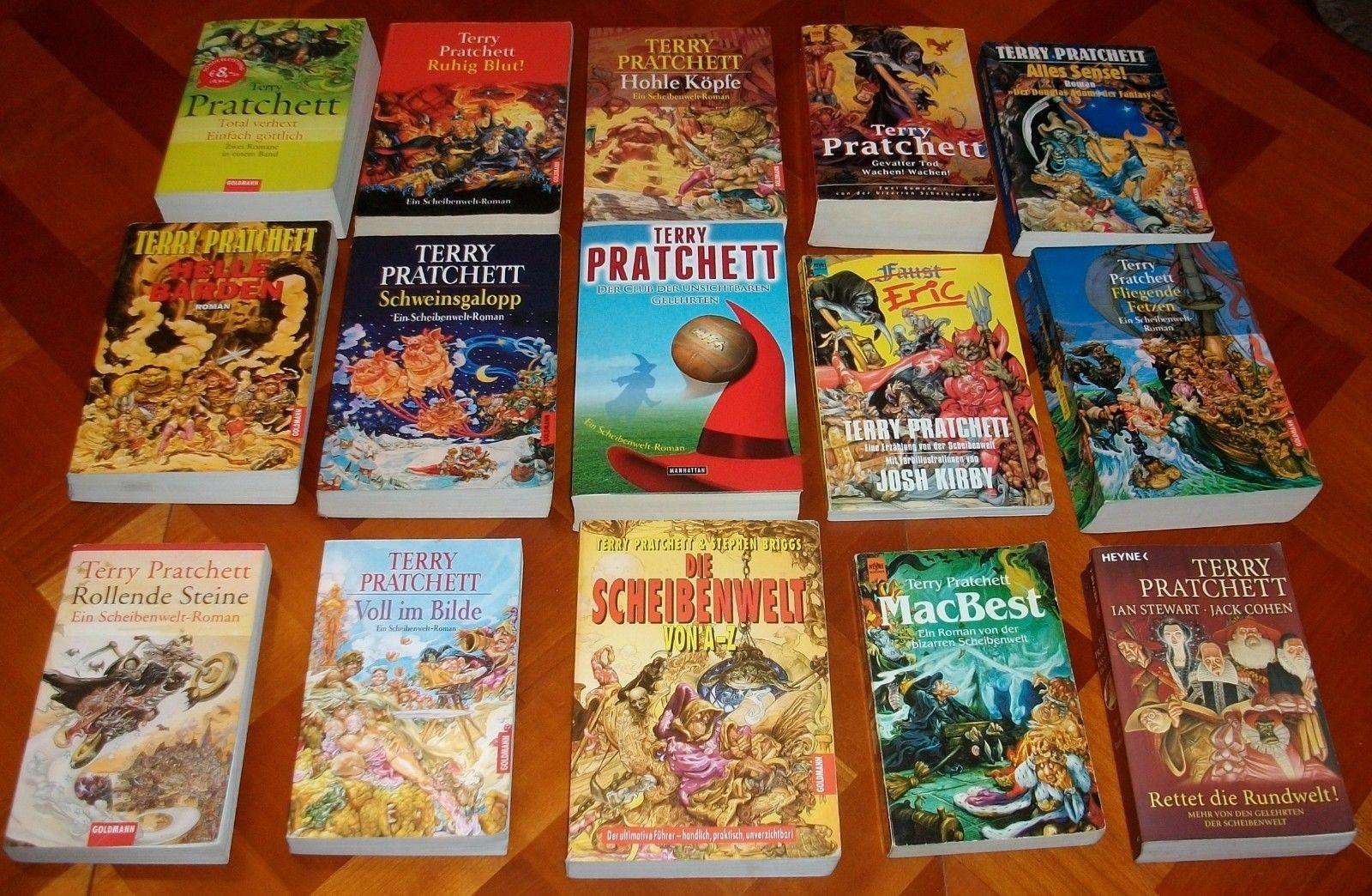17x Terry Pratchett - Scheibenwelt-Romane