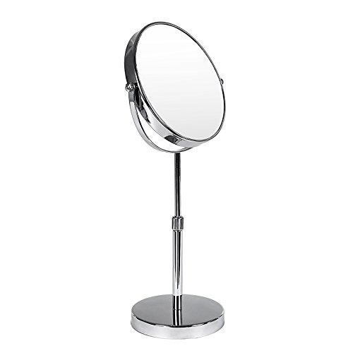 Songmics höhenverstellbar Kosmetikspiegel 10 fach+zweiseitig 360°drehbar BBM008