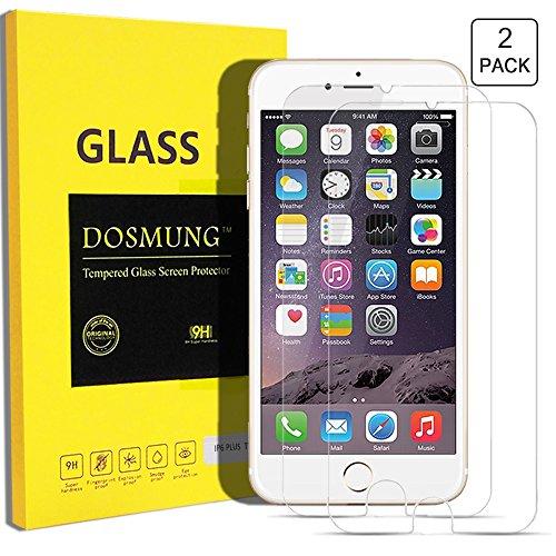DOSMUNG Panzerglasfolie iPhone 6 Plus 6S Plus - Schutzfolie, 2 Stück, 3D Touch Kompatible - 9H Härtegrad - Schutz vor Wasser, Staub, Kratzern und Blasefrei - Utra Klar Glatt - Hohe Qualität und Feine Verarbeitung