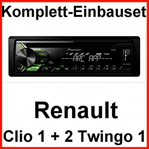 Komplett-Set Renault Clio 1 2 Twingo 1 Pioneer DEH-1900UBG Autoradio CD USB MP3