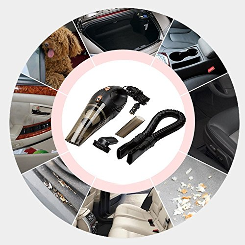 Duomishu Auto-Staubsauger Multifunktions Cyclonic Wet / Dry Selbststaubsauger Handheld mit 14,7 Ft Netzkabel (4.5M) und Tragetasche