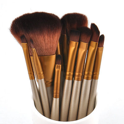 12x Professionelle Pinsel set Pinselset Brush Kosmetik Make Up Foundation