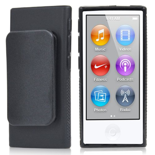 TRIXES Schwarzes iPod TPU Gel Case für Apple iPod Nano 7. Generation