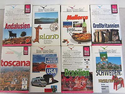 49 Taschenbücher Reiseführer Reise Konw How national und  international