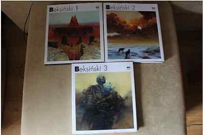 Zdzislaw Beksinski FULL COLLECTION 1-2-3 HARDCOVER (Polish and English Album)