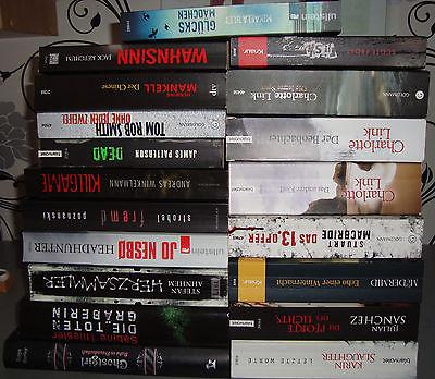 Bücherpaket 19x Thriller Spannung mit Link, Ketchum, Patterson, Nesbo uvm.