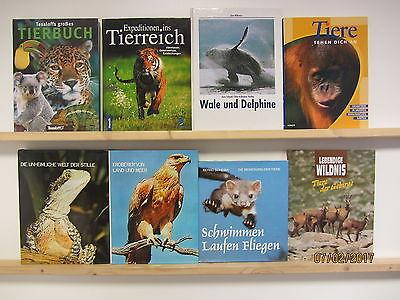 20 Bücher Bildbände Tiere Tierbildbände Säugetiere Fische Reptilien Vögel