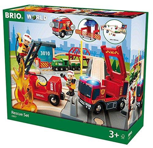 BRIO 33817 - Bahn Großes Feuerwehr Deluxe Set, bunt
