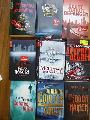 Buchpaket Thriller (TB)  – 9 Bücher, u.a. Nichol, Hagemann, Turow, Mooney