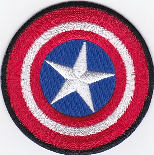 Aufnäher Bügelbild Aufbügler iron on Patch Applikation Captain America Schild The Avenger Rächer Comic Film