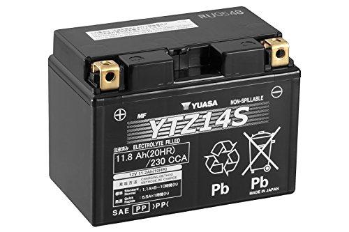 YUASA YTZ14S Powersports AGM Motorrad Batterie, wartungsfrei (Preis inkl. EUR 7,50 Pfand)