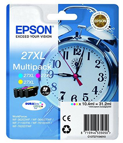 Epson T2715 Tinte, Wecker, wisch- und wasserfeste  XL (Multipack 3-farbig) (CYM)