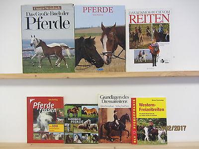 42 Bücher Bildbände Pferde Pferderassen Reiten Dressurreiten Pferdepflege