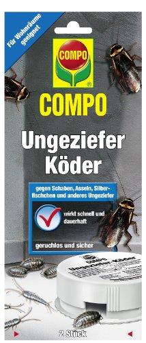 COMPO Ungeziefer-Köderdose, Insektizid gegen u.a. Silberfische, Schaben und Asseln, 2 Dosen, nicht bienengefährlich