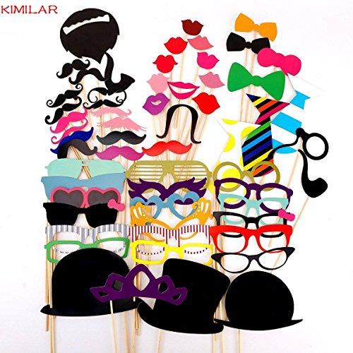 58 Teile Maske Mit Stock Für Maskenball Krawatte / Krone / Brille / Schnurrbart