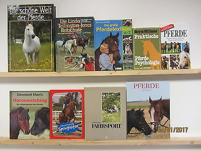 43 Bücher Bildbände Pferde Pferderassen Pferdepflege Reitschule Dressur