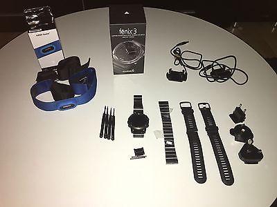 Garmin Fenix 3 mit Saphirglas + HRM Swim + 2x Armband aus Metall